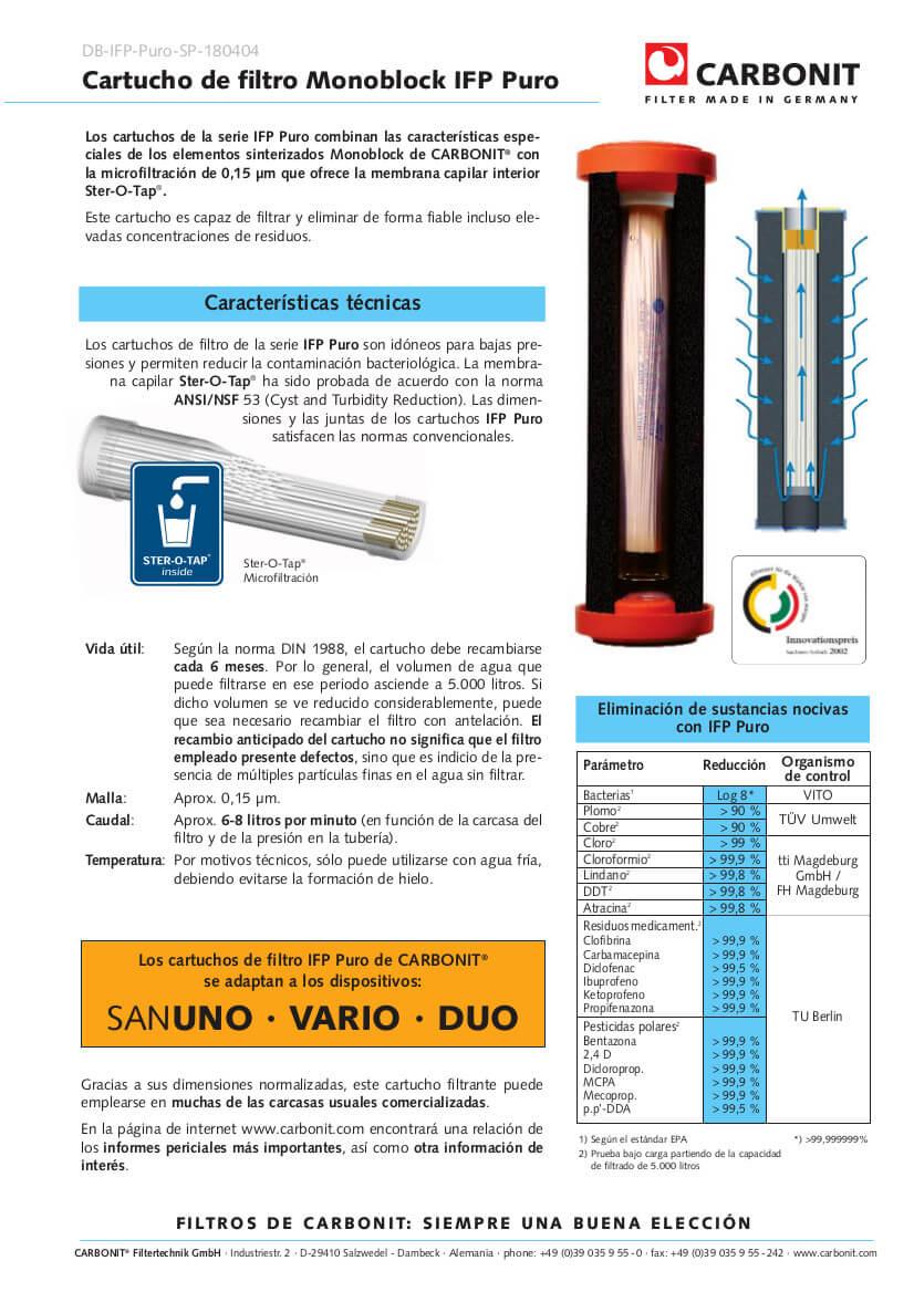 Filtro-de-agua-CARTUCHO-IFP-Puro-Carbonit