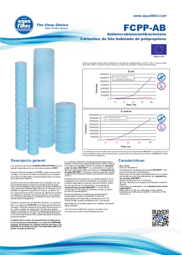 Filtro-de-agua-Cartucho-Hilo-PP-contra-bacterias